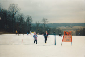 Me on the left, my father on the right.  (Paoli Peaks, 2006)