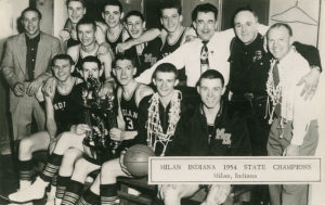 Milan High School Basketball Team, 1954. (Source: Wikipedia)